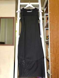 SALE - Zalora midi dress black