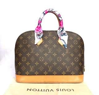 Authentic Louis Vuitton Alma Handbag