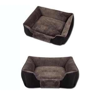 WASHABLE PET DOG CAT BED WITH REMOVABLE CUSHION