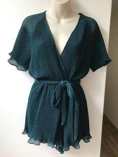 Hunter Green Playsuit M & L