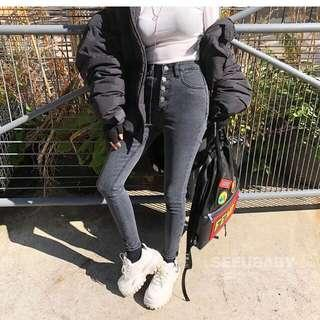 韓國X2牛仔褲 高腰有彈性 M碼 適合27-28腰