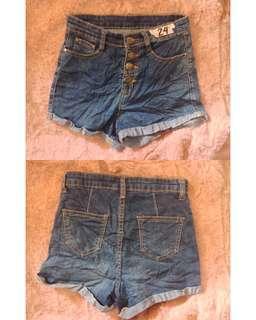 High-waist shorts