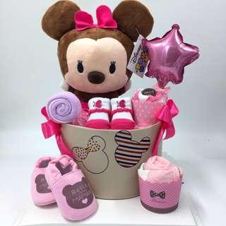 Minnie Tsum Tsum Diapers Cake