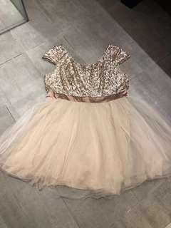 Plus Size Sequin Glitter Tutu Tulle Dress