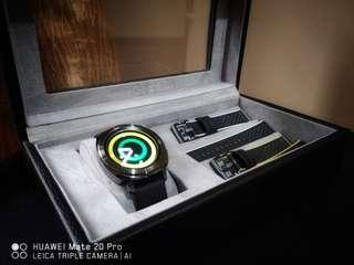 Samsung Gear Sport Black with extra straps and display box.
