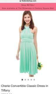 BMD convertible dress classic dress Tiffany color