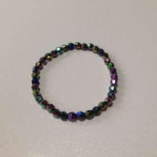 Multicoloured Galaxy-ish Beaded Bracelet