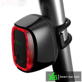 Meilan X6 Meilan Smart Bike Tail Light Bike Tail LED Light Shock And Daylight Sensor Switch 7 Flash Model USB Charge  (6 months local warranty)