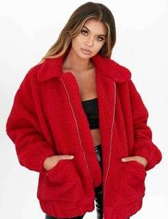I AM GIA RED JACKET
