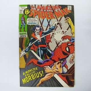 amazing Spider-Man #101 (1971) - Key! 1st appearance of Morbius - Marvel Comics Bronze Age