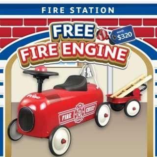 BNIB Friso Ride-On Fire Engine
