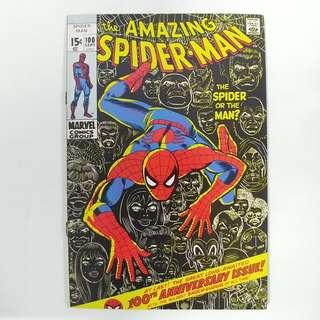 amazing Spider-Man #100 (1971) Anniversary Issue! Stan Lee story - Marvel Comics Bronze Age