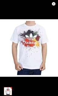 Kaos distro adidas full warna size fit to L