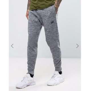 Nike Mens Tech Knit Slim Cut Grey Athletic joggers Pants