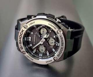 🚚 100% Authentic Casio Gsteel GSTS110 Silver Steel Brand New in Box with FREE DELIVERY 📦 G-Shock