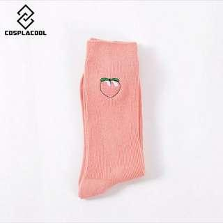 Korean long fruits Socks @$2 add 60cts postage