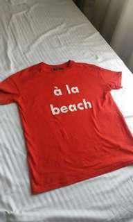 Bershka 'a la beach' shirt
