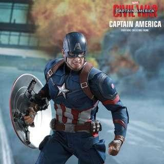 Hot toys civil war captain america mms350
