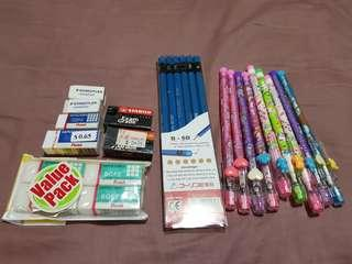 Miscellaneous Stationeries (Pencils & Erasers)