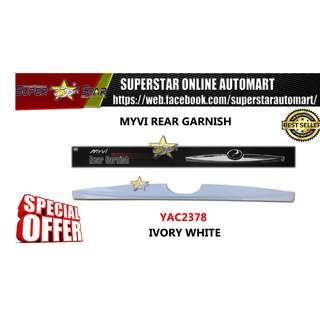 Perodua Myvi Old (2005-2010) Rear Garnish Cover Ivory White