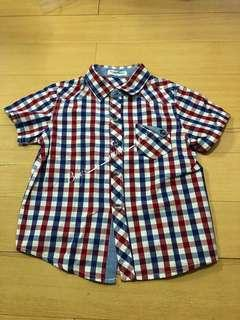 Big and Small Boys Checkered Short Sleeve Polo