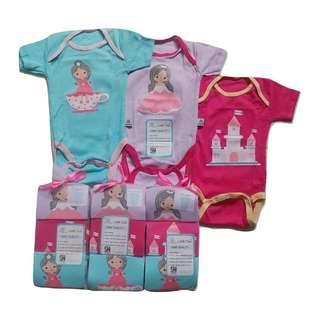 Jelova 3pcs Jumper Baby Bayi OWL Fashion Pendek 0-3 month