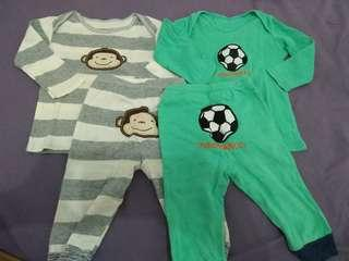 Carters Take All Piyama Bayi Size 6 Bulan