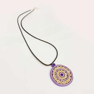 🚚 Quilling Art Pendant with Necklace