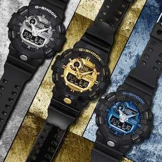 🚚 100% Authentic Casio Gshock GA710GB Series Unisex Black Gold with FREE DELIVERY 📦 G-Shock