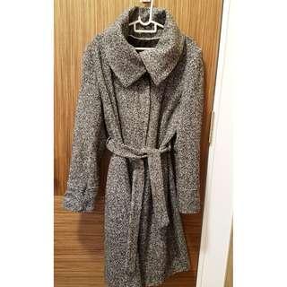 Grey & Black Winter Coat - UK 16 / 14 / XL