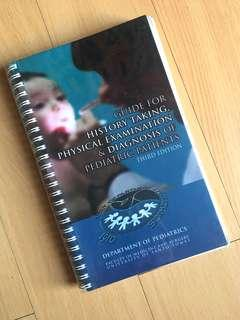 UST Pedia Blue Book (Guide for History Taking, Physical Examination and Diagnosis of Pediatric Patients)