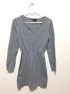 Mango knitted grey dress