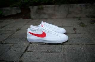 NIKE BLAZER PRM LEATHER WHITE RED