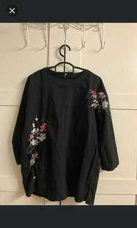 #PRECNY60 Black Rose Blouse