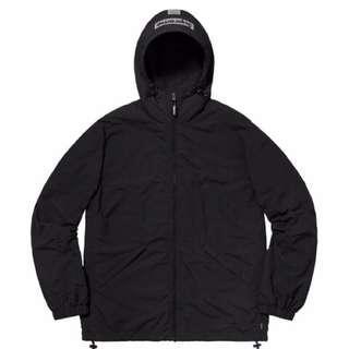 🚚 全新正品現貨 Supreme 2-Tone Zip Up Jacket 隱藏目錄款外套 衝鋒衣 風衣 黑 M