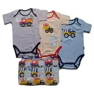 JELOVA 3pcs JUMPER BABY BAYI OWL Pendek Tee UNISEX
