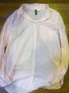 H&M Peach Button Down Shirt