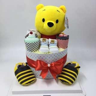 Winnie the Pooh Tsum Tsum Diaper Cake