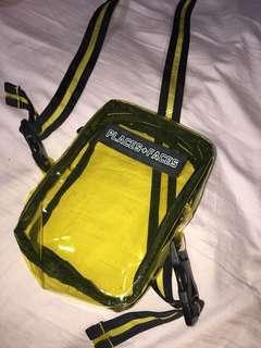 PLACES + FACES x LESSONS yellow pvc bag