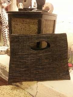 懷舊麻質手挽袋 Vintage hand bag