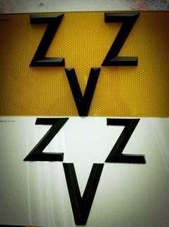 車牌號碼 ZZV