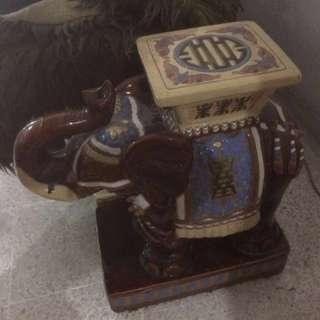 Vintage Ceramic Elephant Statue