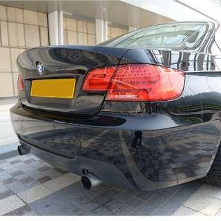 BMW E92 Vorsteiner Trunk (painted JET BLACK, CSL style)