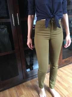 H&M Olive Skinny Jeans