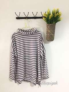 New ! Stripe Turtleneck
