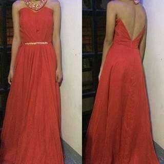 long red gown for (sale!!)