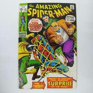 amazing Spider-Man #85 (1970) w/ Kingpin appearance - Stan Lee story - Marvel Comics / Silver Age