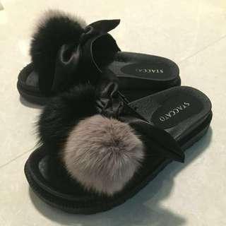 STACCATO 毛毛拖鞋