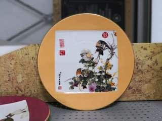 Painting on porcelain plate