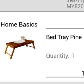 Bed pine tray